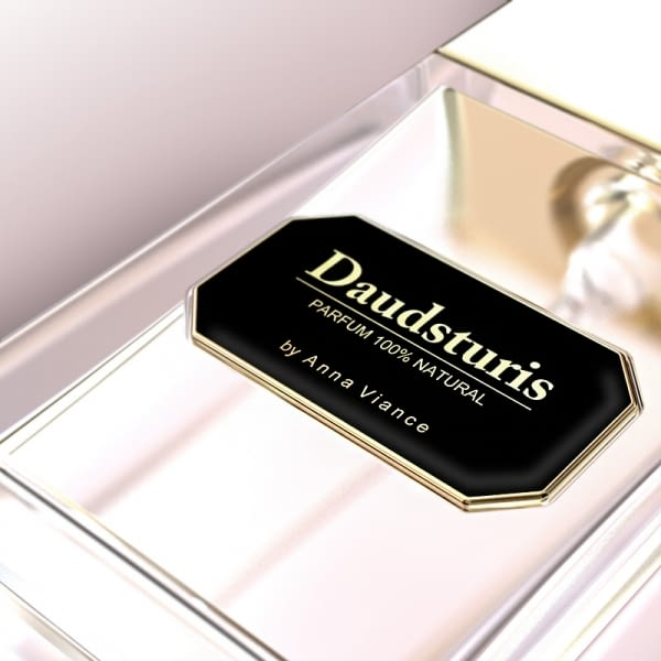 Customized adhesive metal label to decorate perfum